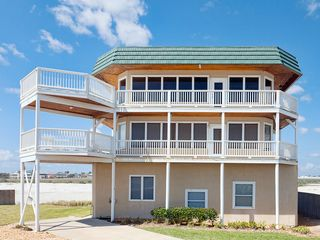Summer Haven house photo - Blue Water View is ocean front with wrap-around deck.