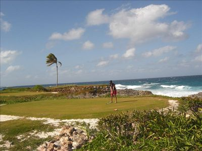 golfing at Sandals resort
