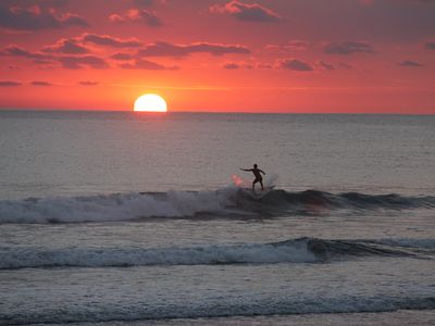 Sunset surfing at Playa Hermosa