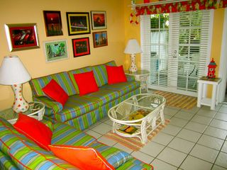 Key West condo photo - The living room from the dining area.