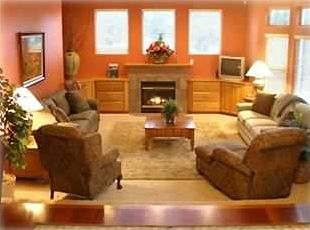 Enjoy cozy nights in gorgeous family room complete w/ fireplace & surround sound