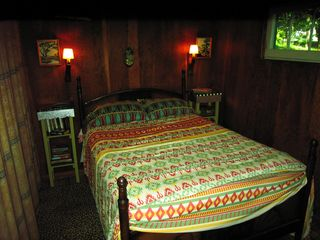 Stanfordville cottage photo - master bedroom - old fashioned double bed with springs!