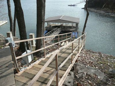 28 ft. Covered Boat Slip, Hydrahoist and 2 Hydroport Jetski Ramps