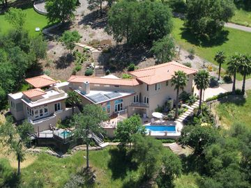 Sutter Creek villa rental - Aerial view of the Villa