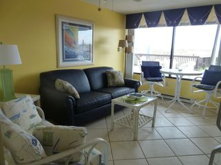 Cherry Grove Beach condo photo - Living room to Deck