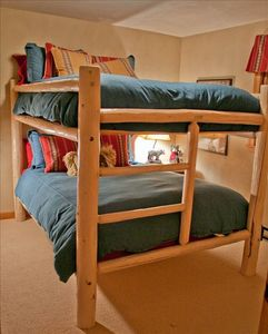 Bedroom 1 with Queen Size Bunks!