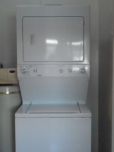 Washer, dryer, and soft water for your comfort and convenience.