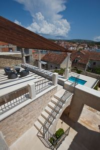 Milna villa rental - Upper terrace