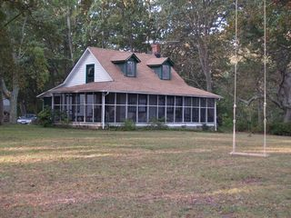 Deltaville cottage photo - Front of Cottage - view from the River