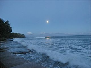 Puako house photo - The moon in its full splendor, the waves demanding to be noticed....