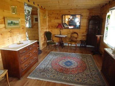 Twin Mountain cabin rental - sitting-parlor room