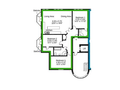 Weymouth apartment rental - Floorplan