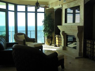Additional view of living area with fantastic views of the Gulf