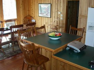 Greers Ferry Lake house photo - Kitchen Island w/seating for 4 + Dining Room w/seating for 8