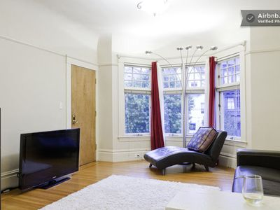 living room overlooking famous Ashbury street