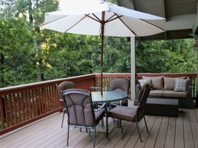 Get comfortable on the back deck