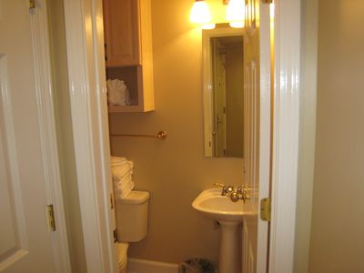 For your convenience, there is a 1/2 bath located near the entry.
