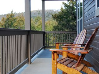 Branson house photo - Handmade Adirondack chairs with a view of the Ozarks