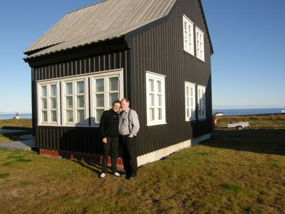 Northwest Iceland house rental - In front of the house