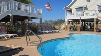 Gulf Shores bungalow rental - View from inside your Cabana while you enjoy the outdoors without getting burnt!