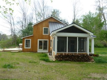 Side View of Cottage with Screened Porch