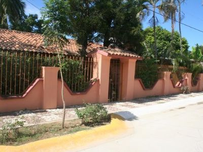 Gated and walled property, safe and secure, with off street parking.