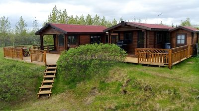 Cozy cottage, view to Eyjafjallajökull, ideal for northern lights watching