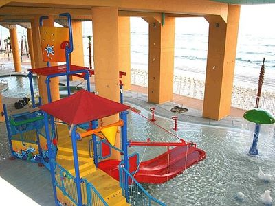 KIDS LOVE PLAYING IN THIS FUN AREA THAT OVERLOOKS THE GULF OF MEXICO...