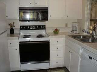 Laguna Beach condo photo - Kitchen Including Bay Window with View of Front Entrance Area