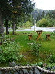 Girdwood lodge photo - Picnic Table with View of the Ski Slopes