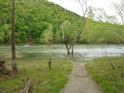 Lake Taneycomo fishing access is only a 3 block walk from the unit.