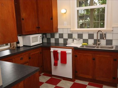 Kitchen with original cabinetry