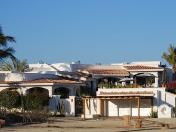 Front View of Villa - Casa Las Terrazas. Garage with additional 2 car parking.