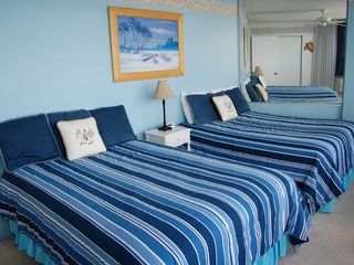 Daytona Beach condo photo - Oceanfront Bedroom w/1 Queen Bed & 1 Full Size Double Bed & Flat Screen TV