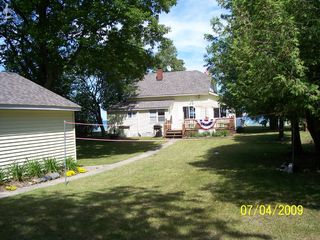 Port Sanilac cottage photo - Long front yard to play volleyball