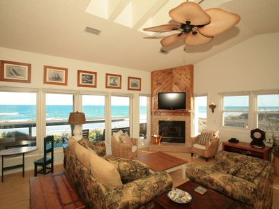 Ponte Vedra Beach house rental - Living Room is Open and Spacious -Large Flat Screen TV and OH the VIEWS!
