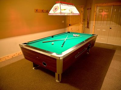 A game of pool anyone? The lower level rec room is the perfect spot for kids.