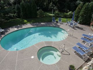 Sagamore Beach house photo - Heated pool and hot tub. You will enjoy this!