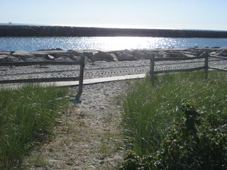 Wells townhome photo - End of Path to Jetty & Beach from our beach house