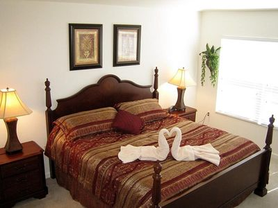 Master Bedroom with King Bed and Plush Pillowtop Mattress
