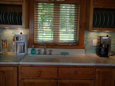 Vintage farmhouse sink.