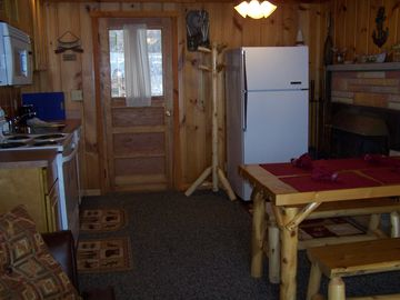 Kitchen/galley area!!! Cottage is decorated nautical....