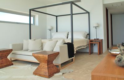 Anguilla villa rental - Master bedroom suite with ocean views, private bathroom and balcony
