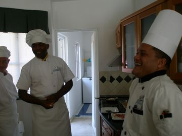 Very friendly chef's that come and cook your breakfast