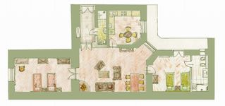 Krakow apartment photo - floor plan