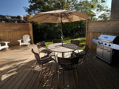 Private rear deck with barbeque