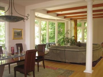 Mill Valley house rental - dining and living rooms