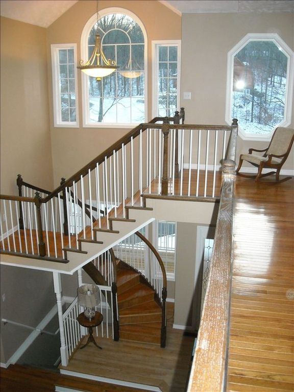 Upstairs Landing giving Spectacular Views and Circular Stairs