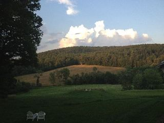 Woodstock farmhouse photo - View in evening