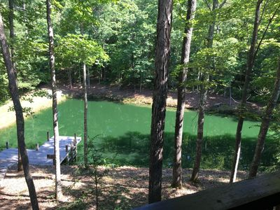 view from back porch and private pond